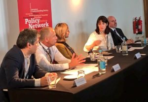 Speaking at Policy Network event alongside Rachel Reeves MP